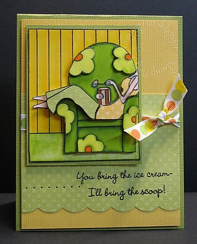 Paper Tole ice cream card