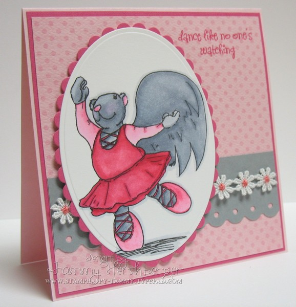 Susie Squirrel dancing